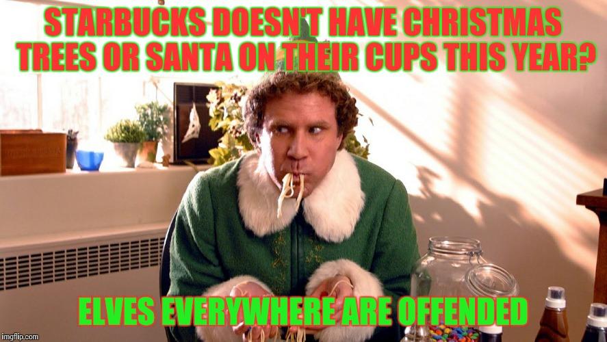Christmas Memes Elf.Elf On Starbucks Cup Imgflip