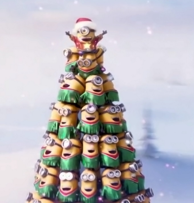 high quality minion christmas tree blank meme template