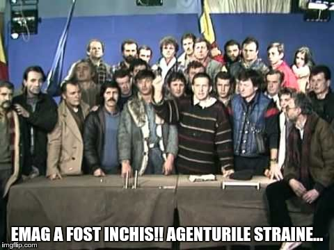 EMAG A FOST INCHIS!! AGENTURILE STRAINE... | made w/ Imgflip meme maker