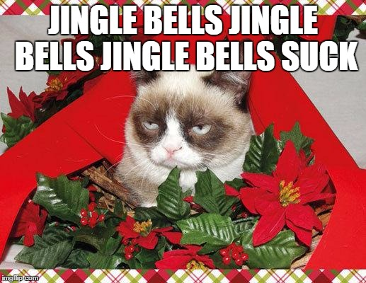 Grumpy Cat Christmas Memes Jingle Bells