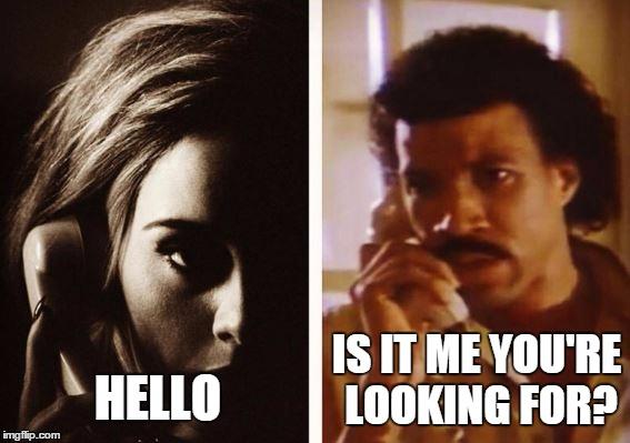 Adele Meets Lionel Richie Imgflip