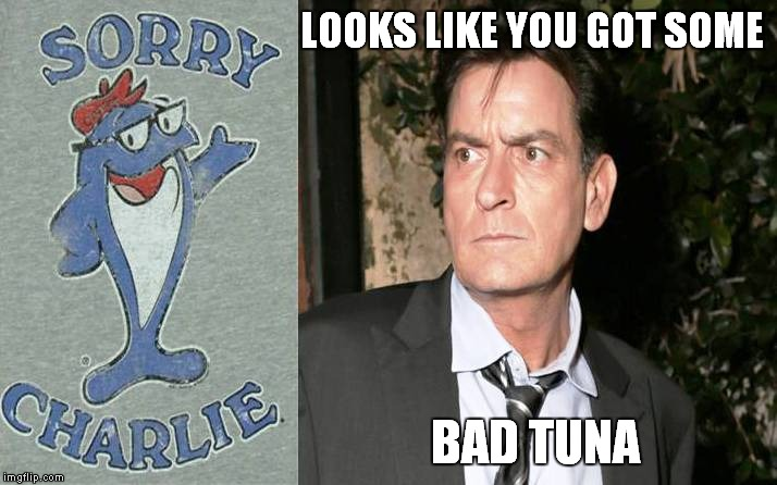 Should've tried the safe catch brand! | LOOKS LIKE YOU GOT SOME BAD TUNA | image tagged in meme,charlie sheen | made w/ Imgflip meme maker