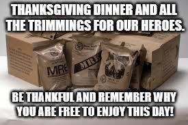 upmbo military imgflip,Military Thanksgiving Meme