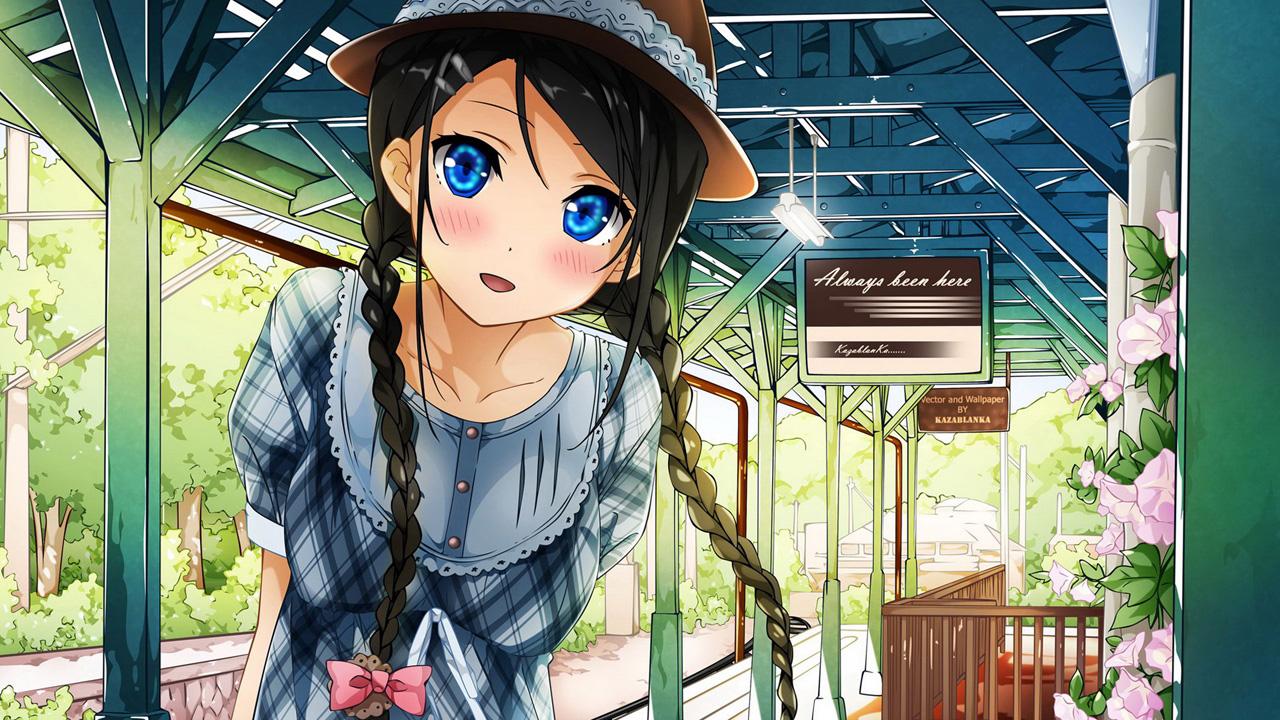 cute anime girl blank template - imgflip