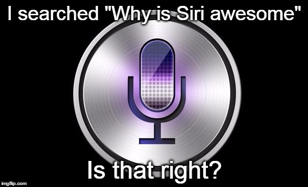"I searched ""Why is Siri awesome"" Is that right? 