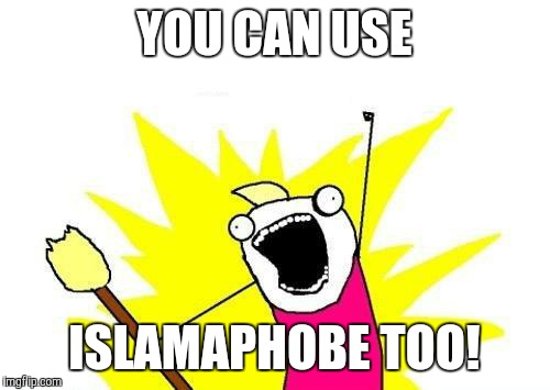 X All The Y Meme | YOU CAN USE ISLAMAPHOBE TOO! | image tagged in memes,x all the y | made w/ Imgflip meme maker