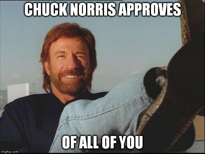 chuck norris approves meme - photo #3