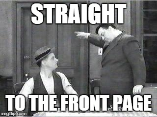 This is the meme comment I make for those memes in 'Latest' that I think will make the front page.  I'm often right, too. | STRAIGHT TO THE FRONT PAGE | image tagged in ralph kramden,meme,memes,front page,upvotes | made w/ Imgflip meme maker