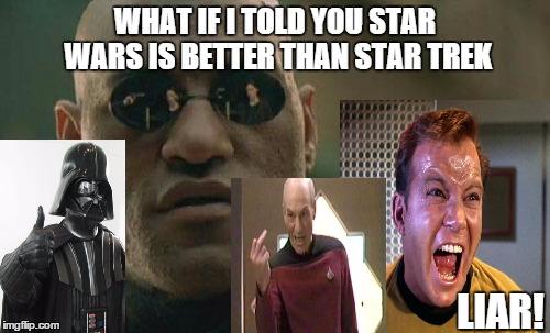 Image result for star wars vs star trek meme