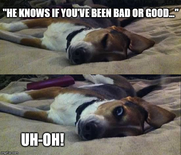 "Naughty Dog | ""HE KNOWS IF YOU'VE BEEN BAD OR GOOD..."" UH-OH! 