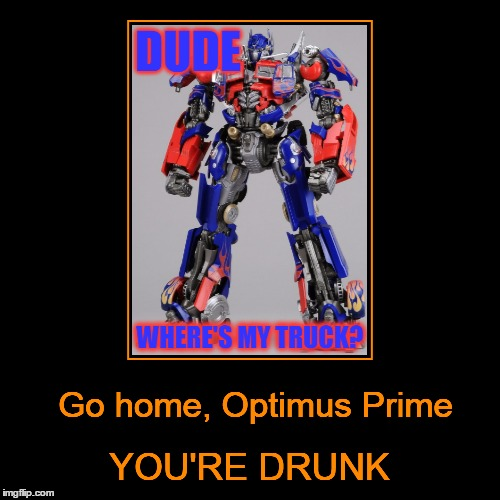 """Dude, where's my truck?"" 