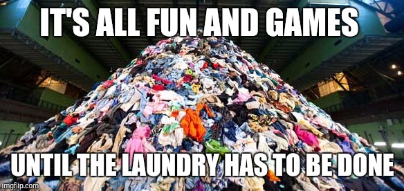 Image result for clothes mountain meme