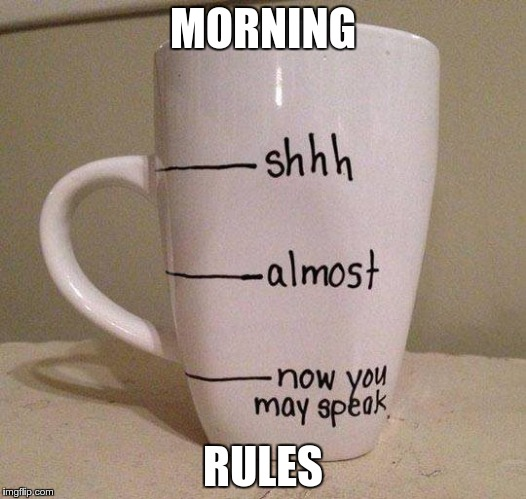 Morning Rules | MORNING RULES | image tagged in morning rules | made w/ Imgflip meme maker