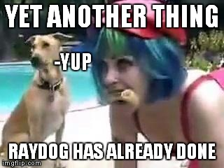 YET ANOTHER THING RAYDOG HAS ALREADY DONE -YUP | made w/ Imgflip meme maker