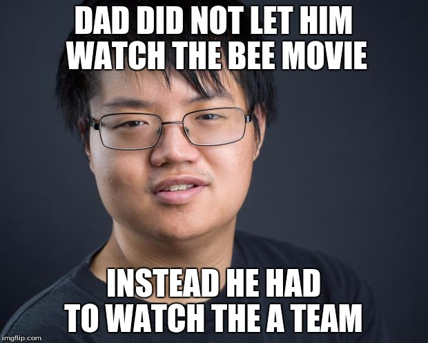 nerd meme asian imgflip dad team let bee him