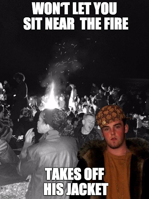 """Scumbag Steve"" at a beach party 