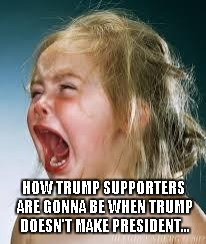 HOW TRUMP SUPPORTERS ARE GONNA BE WHEN TRUMP DOESN'T MAKE PRESIDENT... | made w/ Imgflip meme maker