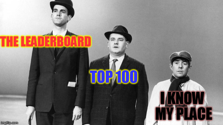 The 2000 remake is also funny | THE LEADERBOARD TOP 100 I KNOW MY PLACE | image tagged in memes,british,funny,john cleese,leaderboard,comedy | made w/ Imgflip meme maker