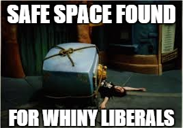 SAFE SPACE FOUND FOR WHINY LIBERALS | made w/ Imgflip meme maker