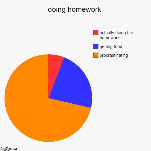 pie charts homework sheet