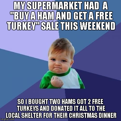 "It's the ""season of giving"" folks...if you have extra, be the ""reason for the season"" for those in need...It's a GREAT feeling 