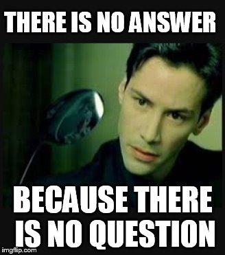 No answer meme