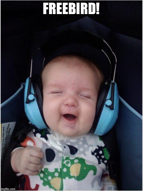 Jammin Baby Meme | FREEBIRD! | image tagged in memes,jammin baby | made w/ Imgflip meme maker