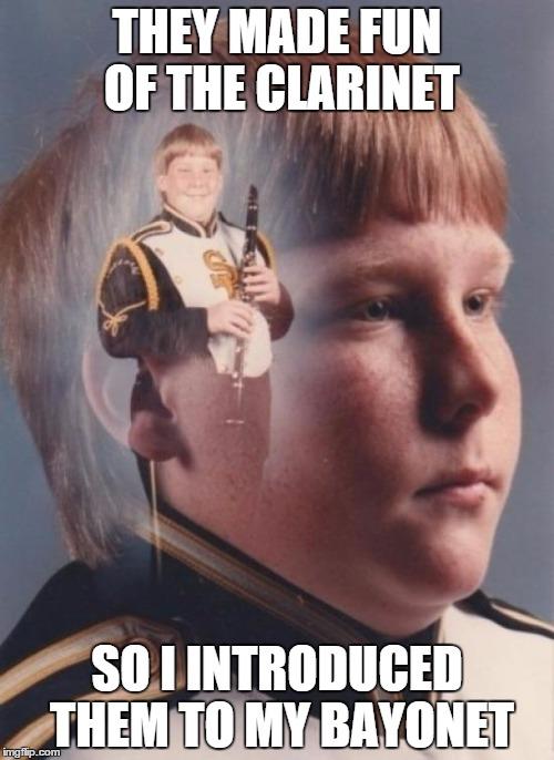 vqfbe ptsd clarinet boy meme imgflip,Bayonet Meme