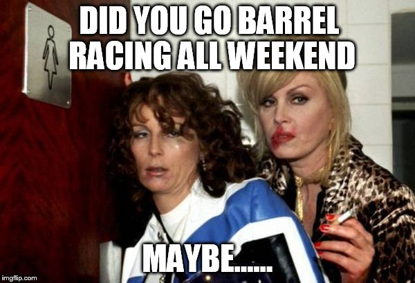 Image Tagged In Did You Go Outbarrel Racingbarrel Racer Problems
