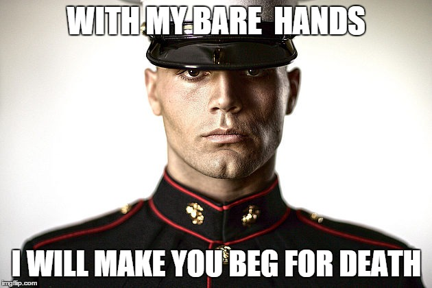 WITH MY BARE  HANDS I WILL MAKE YOU BEG FOR DEATH | made w/ Imgflip meme maker