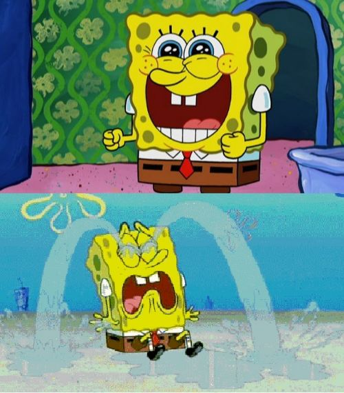 spongebob happy and sad Blank Meme Template