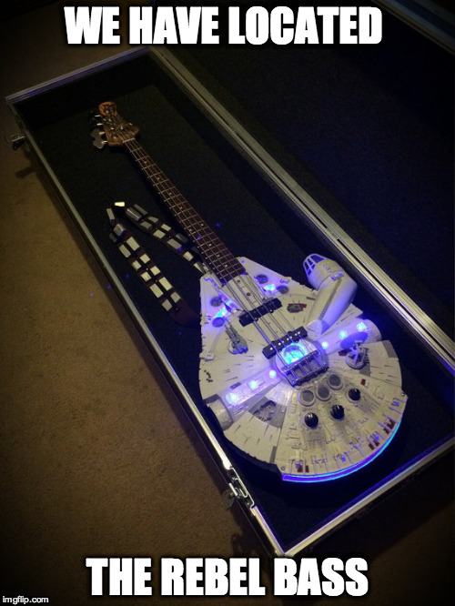 Just had to find the right key | WE HAVE LOCATED THE REBEL BASS | image tagged in star wars,bass,funny | made w/ Imgflip meme maker