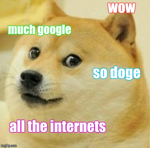 wow so doge much google all the internets | made w/ Imgflip meme maker