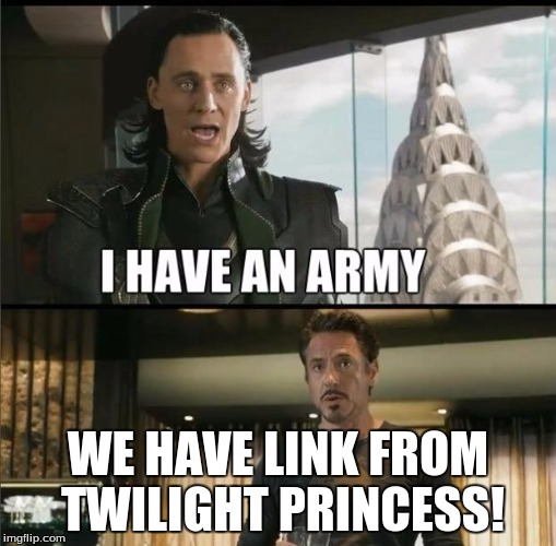 We have a Hulk | WE HAVE LINK FROM TWILIGHT PRINCESS! | image tagged in we have a hulk | made w/ Imgflip meme maker
