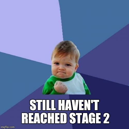 Success Kid Meme | STILL HAVEN'T REACHED STAGE 2 | image tagged in memes,success kid | made w/ Imgflip meme maker