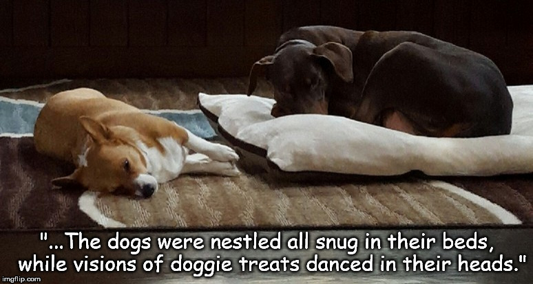"""The Dogs Were Nestled All Snug In Their Beds"" 