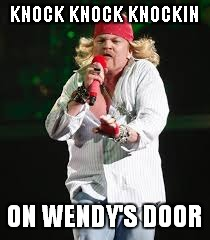 KNOCK KNOCK KNOCKIN ON WENDY'S DOOR | made w/ Imgflip meme maker
