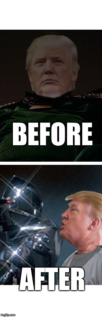 Trump Galactica | BEFORE AFTER | image tagged in trump galactica | made w/ Imgflip meme maker