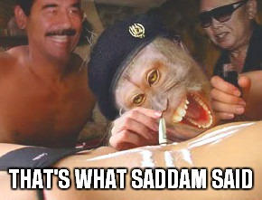THAT'S WHAT SADDAM SAID | made w/ Imgflip meme maker