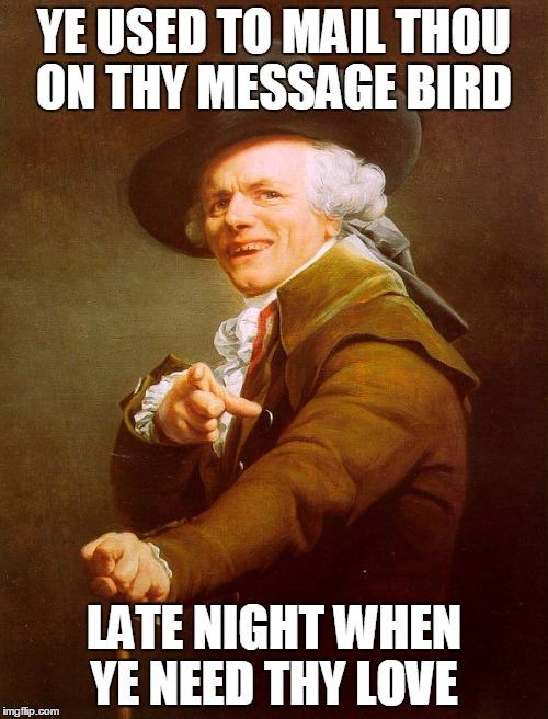 Funny Old English Meme : Old english rap imgflip