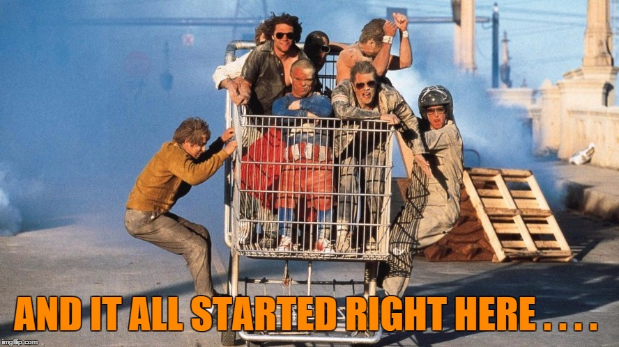 Jackass - The Movie | AND IT ALL STARTED RIGHT HERE . . . . | image tagged in jackass - the movie | made w/ Imgflip meme maker