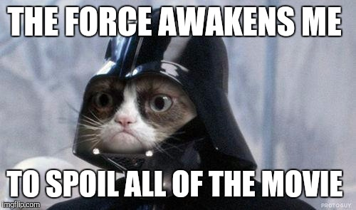 Grumpy cat star wars meme imgflip grumpy cat star wars meme the force awakens me to spoil all of the movie thecheapjerseys Gallery