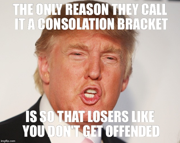 Donald Trump sends a message to those in his fantasy