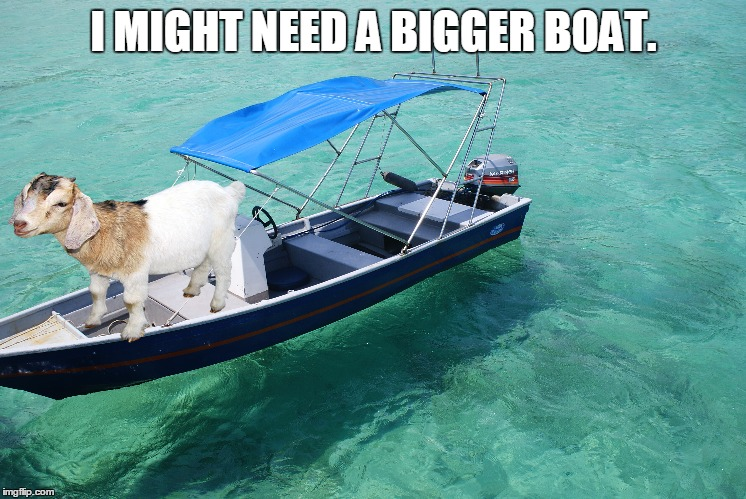 I MIGHT NEED A BIGGER BOAT. | made w/ Imgflip meme maker