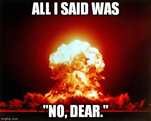 "Nuclear Explosion | ALL I SAID WAS ""NO, DEAR."" 