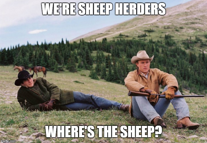 WE'RE SHEEP HERDERS WHERE'S THE SHEEP? | made w/ Imgflip meme maker