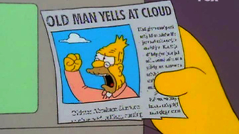 High Quality Old man yells at cloud Blank Meme Template