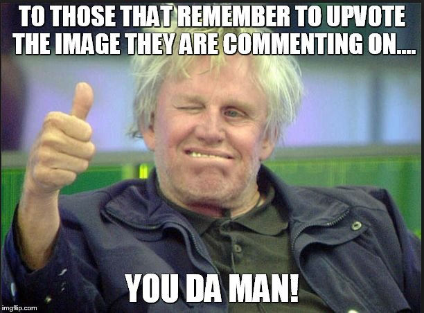gary | TO THOSE THAT REMEMBER TO UPVOTE THE IMAGE THEY ARE COMMENTING ON.... YOU DA MAN! | image tagged in gary | made w/ Imgflip meme maker