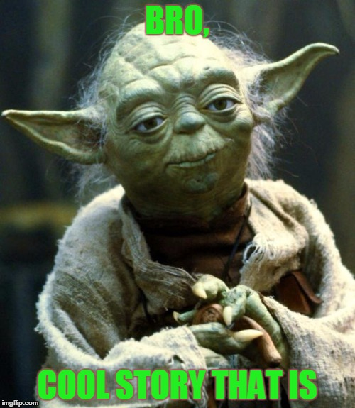 Star Wars Yoda Meme | BRO, COOL STORY THAT IS | image tagged in memes,star wars yoda | made w/ Imgflip meme maker