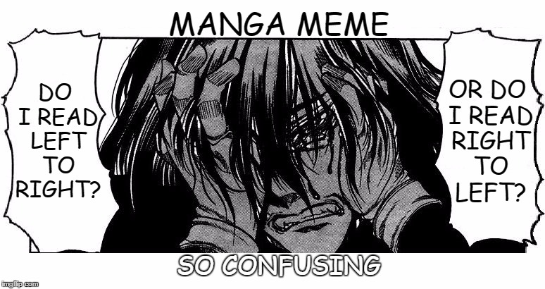 That Feeling When You Ve Been Reading Manga And Then See A Manga